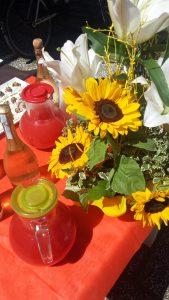 Fiori e aperitivi all'hotel Amicizia Rimini