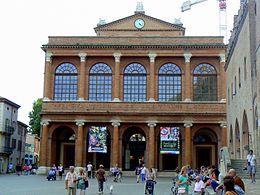 Foto del Teatro Galli prima della ristrutturazione