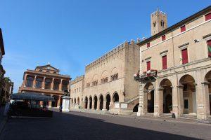 Piazza Cavour, nel centro storico di Rimini